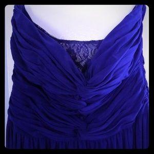 Juniors purple prom dress